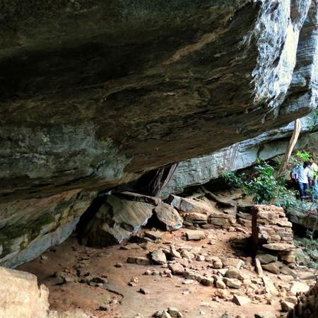 Kahata Aththa Hela Caves at the Nilgala Forest