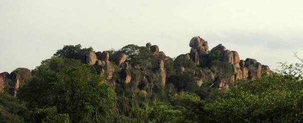 Sri Thissa Raja Maha Viharaya - Anandakulama mountain range — in Trincomalee.