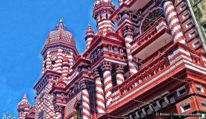 Red Mosque  (Al Jamiul Alfar Mosque) in Pettah