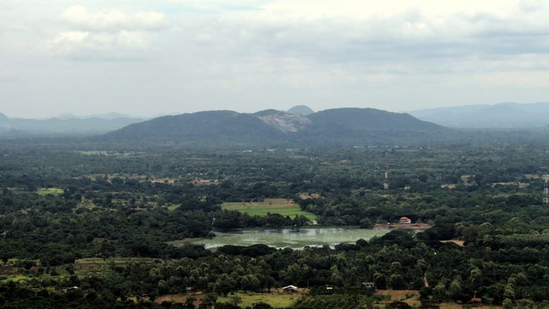 View from the top of the Kahalla Pallekele mountain - Upulwehera Archaeological Site