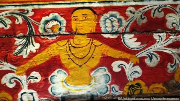 painings inside the Kanugala Sri Pushparama Tampita Viharaya