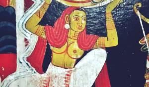 Murals inside the Tampita Viharaya at Hemmathagama Madiliya Rajamaha Viharaya