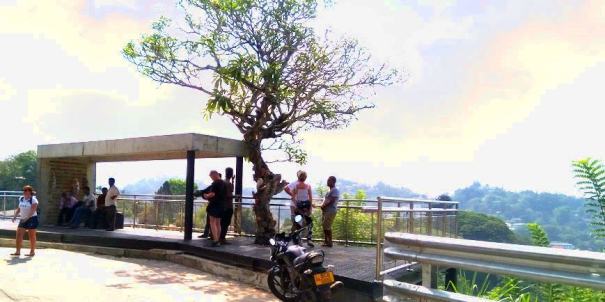 The new viewing deck at Arthur's Seat - Kandy