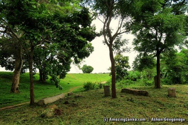 Ruins near the Andara Wewa Reservoir at Maha Andarawewa Archaeological Reserve / Andarawewa Walagamba Rajamaha Viharaya
