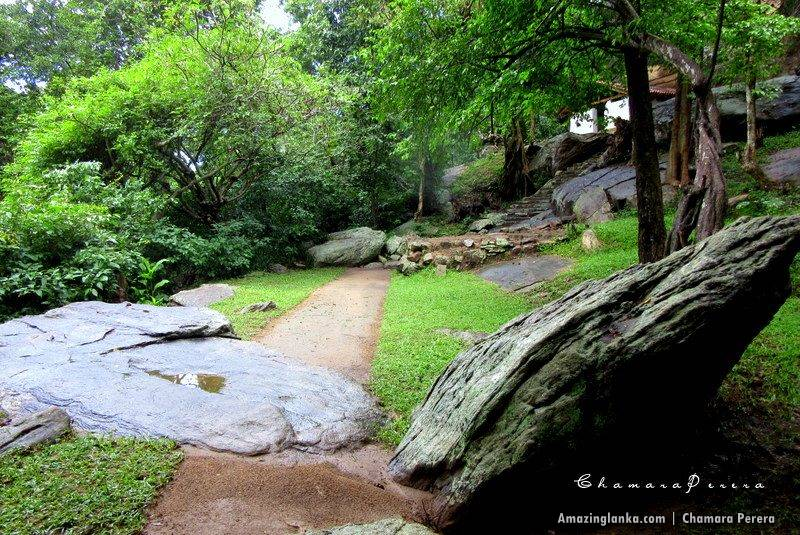 Ruins of the Nathagane Ancient Cave Temple Complex in Kurunegala