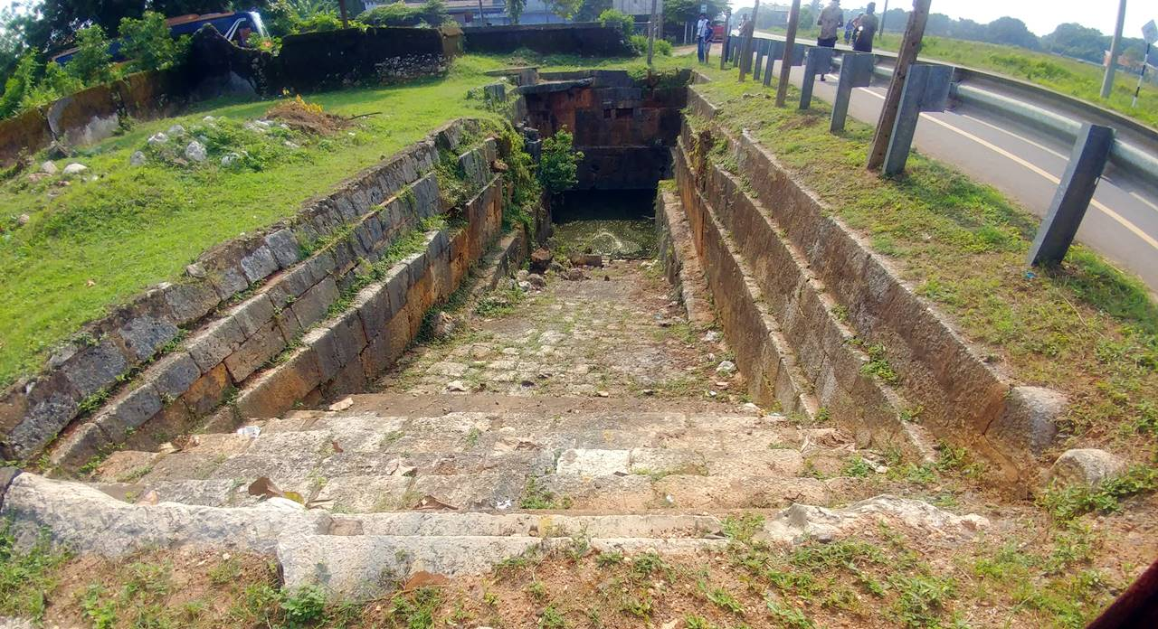 Ruins of the Ancient Pond at Nelliady Muthukumara Swamy Kovil in Jaffna