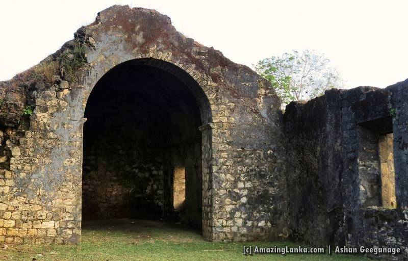 Ruins of the Chankanai Dutch Church in Jaffna