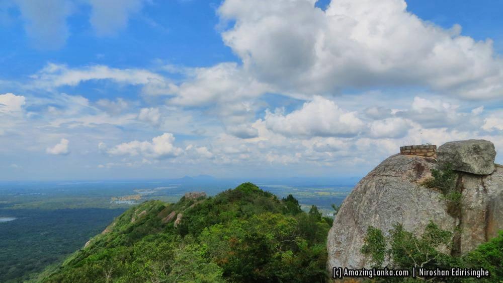 View of Ritigala mountain range from Manakanda ancient monastery