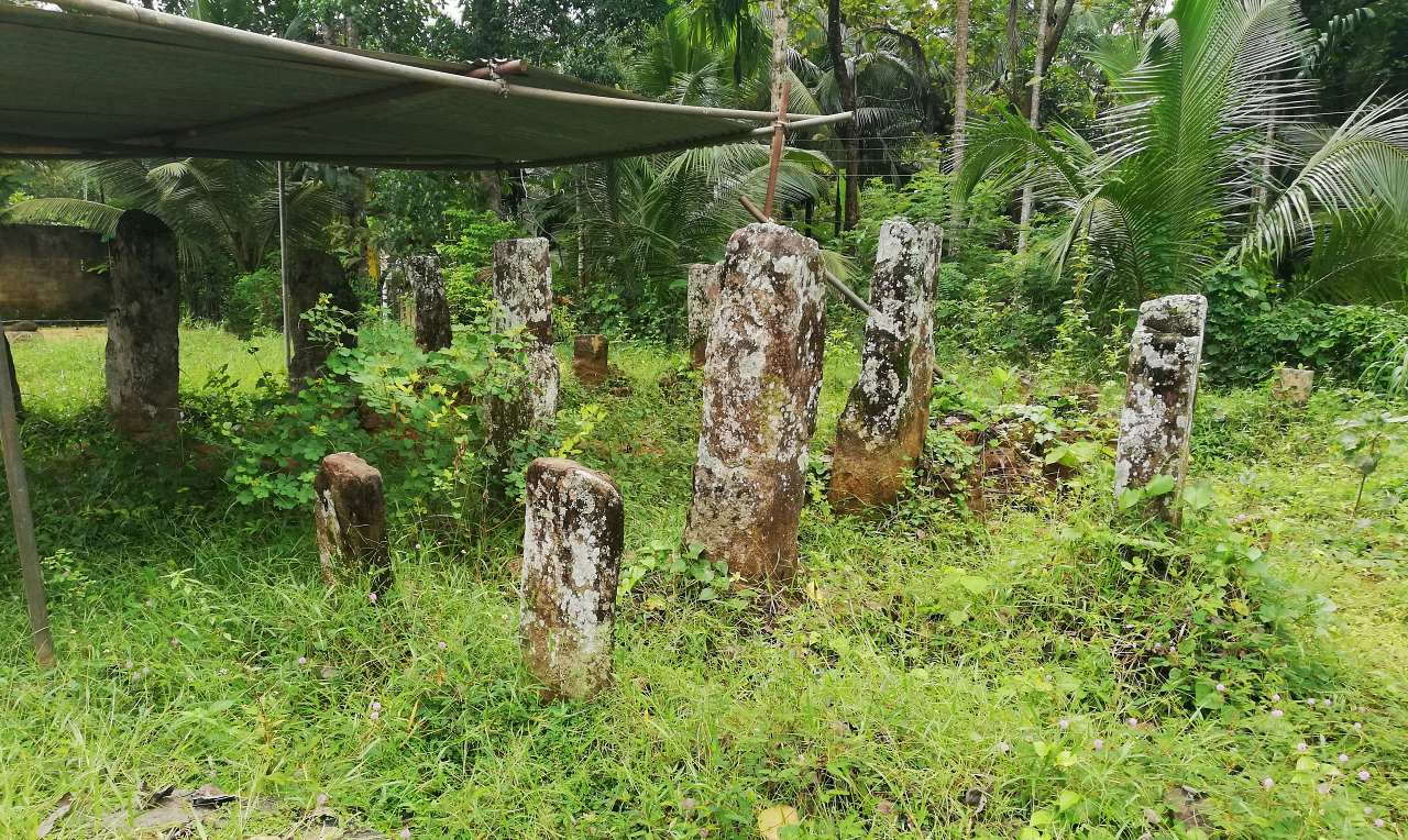 Ruins of what is believed to be the remains of the residence building of Maliyadeva Thero at the Wattarama Sri Arahantha Maliyadeva Rajamaha Viharaya