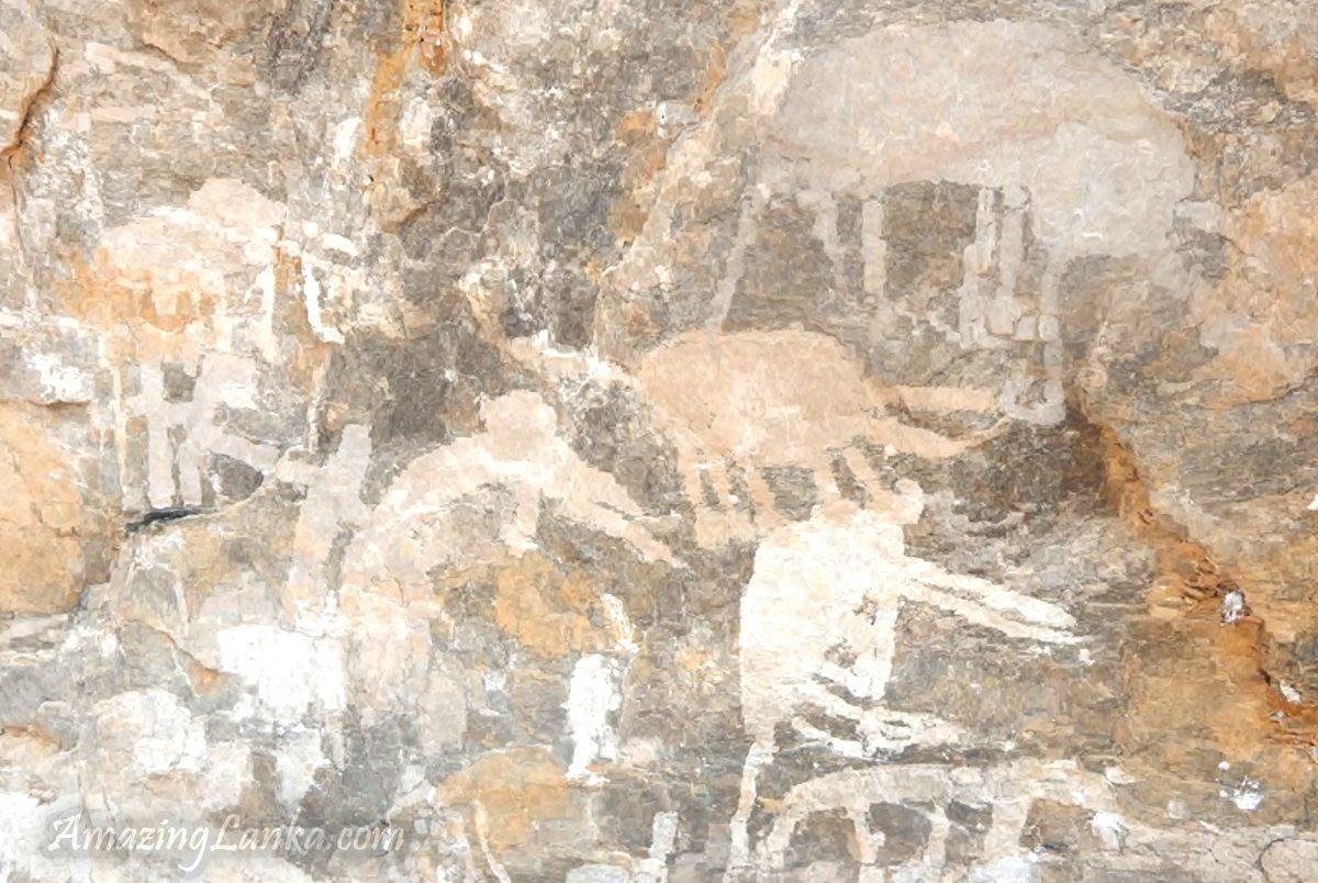 වෙට්ටඹුගල පර්වත ගුහාවේ ප්රාග් ඓතිහාසික සිතුවම් - Prehistoric Cave Art in Wettambugala Rock Cave