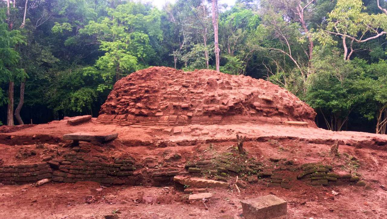The Sapumalgaskada Stupa after being cleared of debris.