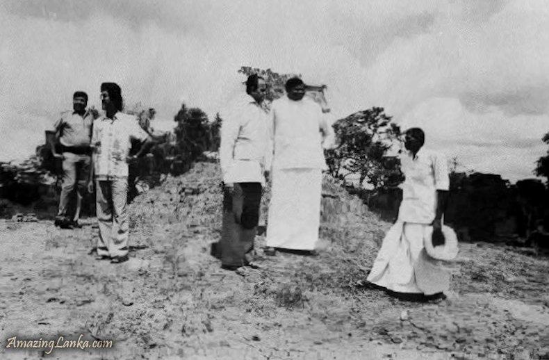 A Stupa Mound before restoration discovered in Samalankulam - Vavuniya