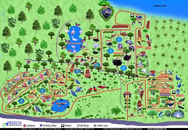 Map of the Hambantota Bird Park