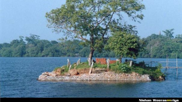 An Island with remains of a ancient building