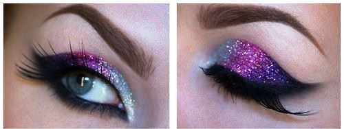 DIY Smokey Glitter Eyeshadow