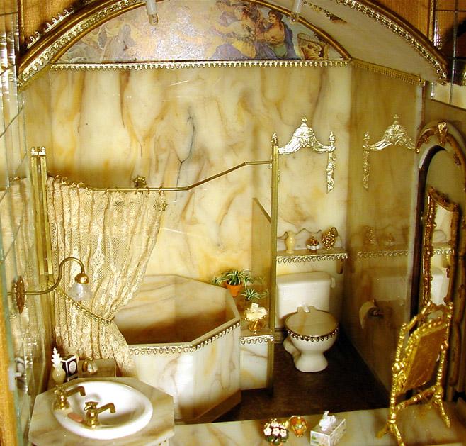 The Marble Bathroom in the Freemans Dollhouse Castle