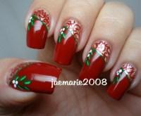 Mistletoe Vintage Nail Design   AmazingNailArt.org