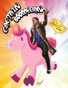 Suicide Squad Captain Boomerang on a Unicorn