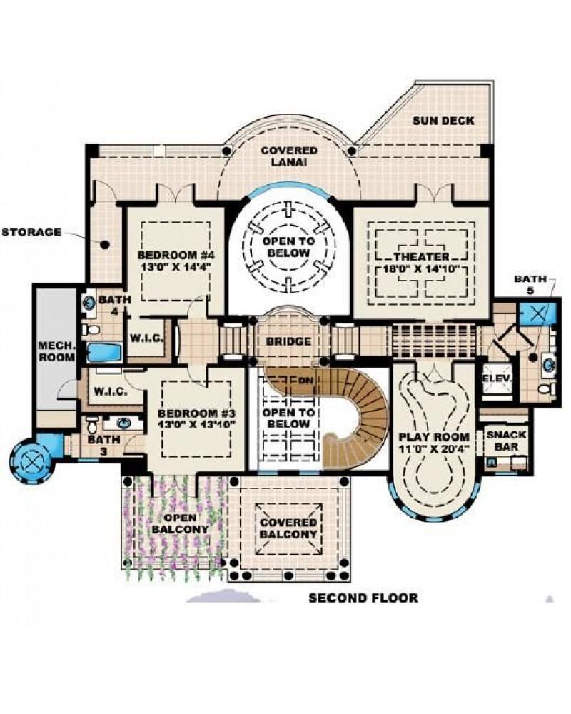 House Plan F2 6295 Mar A Lago Luxury