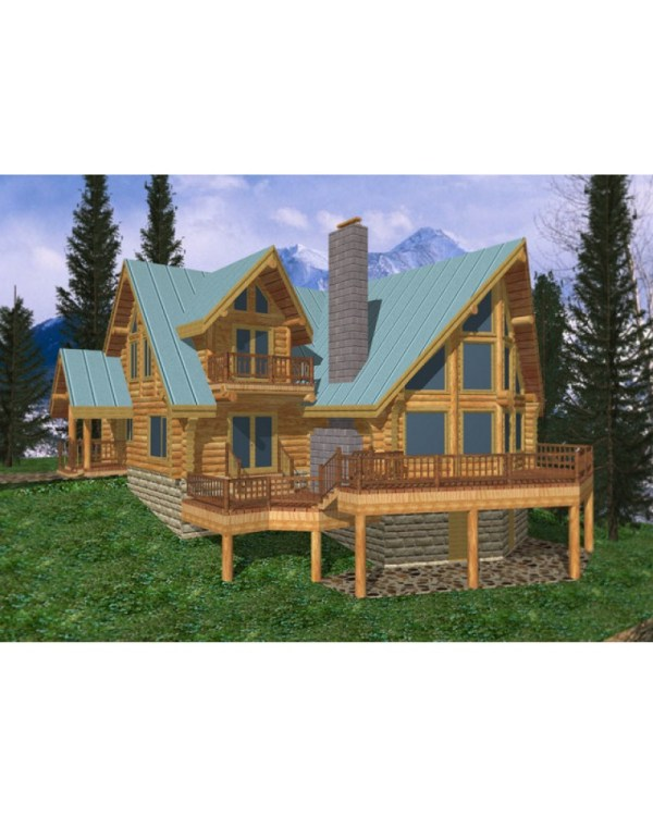 House Plan #ghd1002 - Beach Pilings