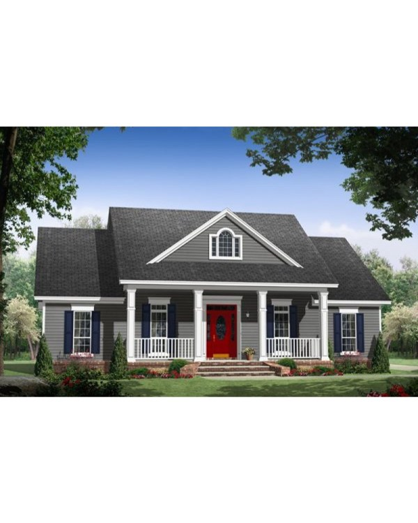 House Plan #hpg-1640 - Country Southern