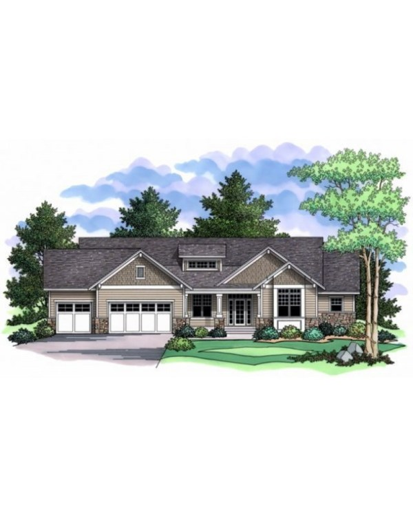 House Plan #ro-1914 - Country Farmhouse