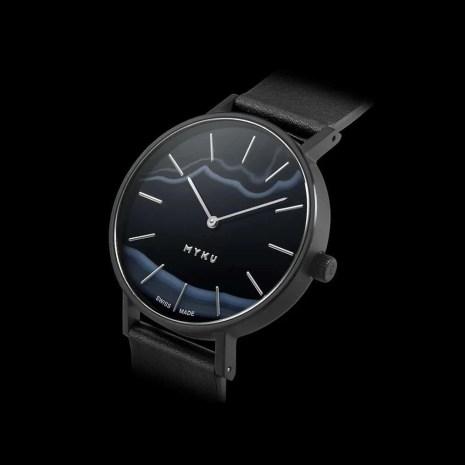 black gemstones used in watches