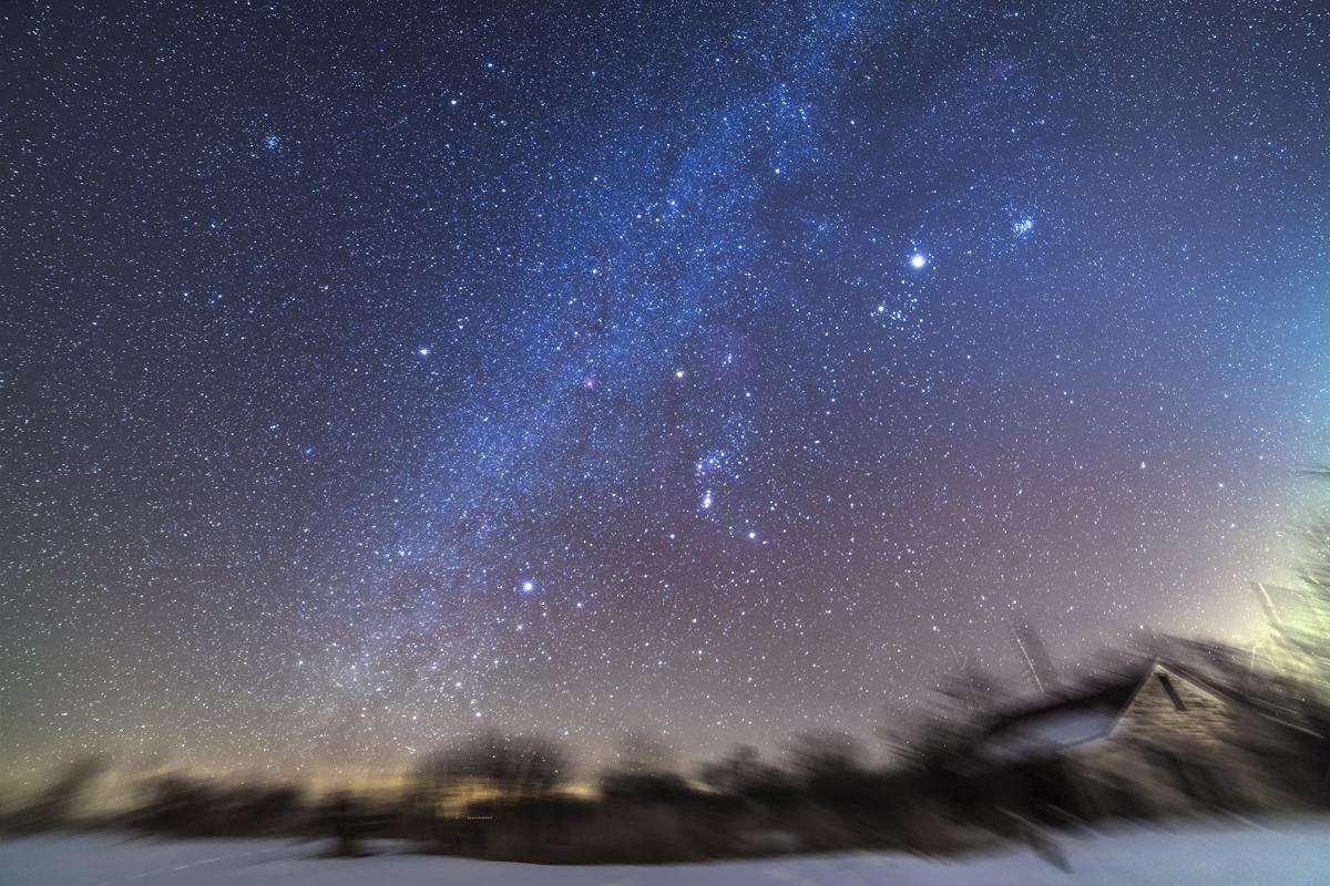 The Wide Angle Winter Sky The Amazing Sky