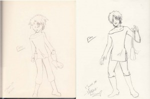 Here's a sketch from 2004 (left) paired with a reboot that I did last month.  A lot has changed in ten years!