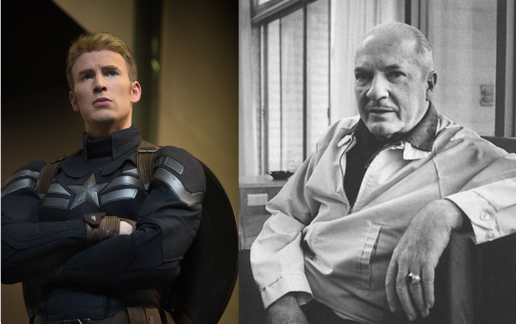 Figure 3 - Captain America (Chris Evans) and Robert A. Heinlein