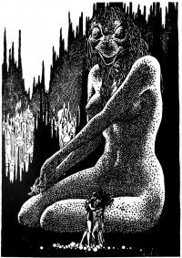 originals_2365-Virgil_Finlay_-_The_Snake_Mother_by_Abraham_Merritt
