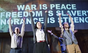 1984 at the Almeida Theatre. Photograph: Tristram Kenton for the Guardian