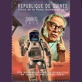 Figure 1 - Isaac Asimov postage stamp from Guinea (2012)