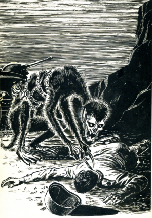 Figure 6 - Keith Laumer - A Plague of Demons illo by Ed Emshwiller LEFT