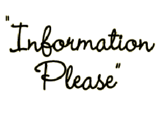 Information Please – The Science Fiction Edition