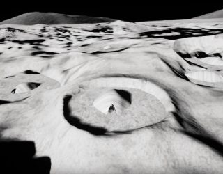 Beautiful Moon Base Concept Puts Inflatable Modules in Craters