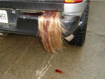 Hair out of car trunk
