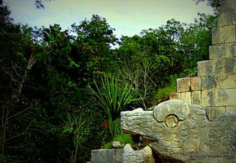Head of a feathered serpent - Chichen Itza - Mexico