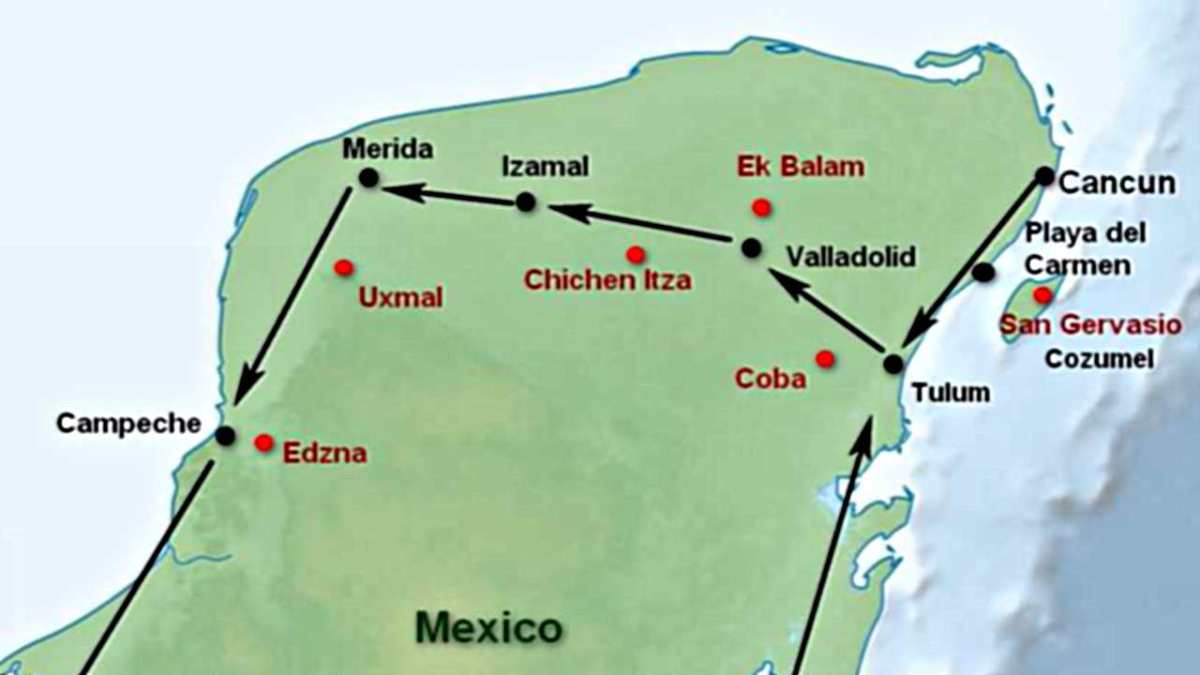 Yucatan Peninsula and Riviera Maya - Getting Around - Visit All Famous Maya Ruins