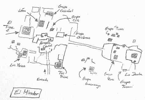 Karte El Mirador