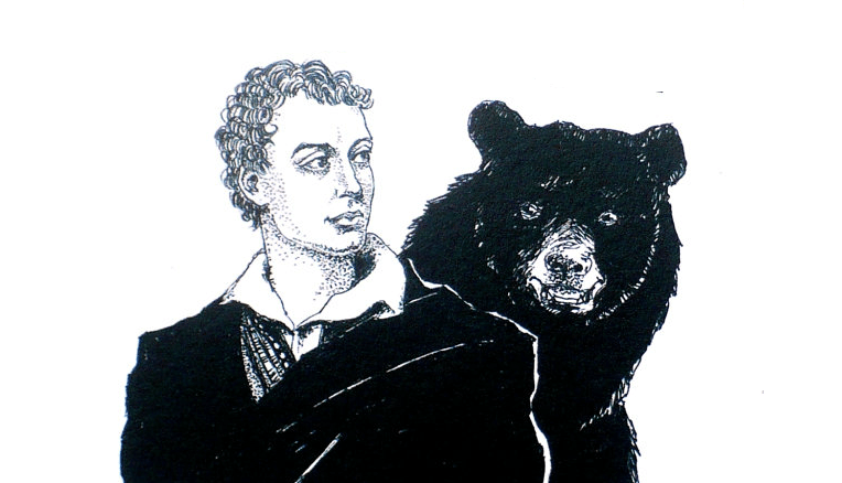 Image result for Lord Byron and his bear