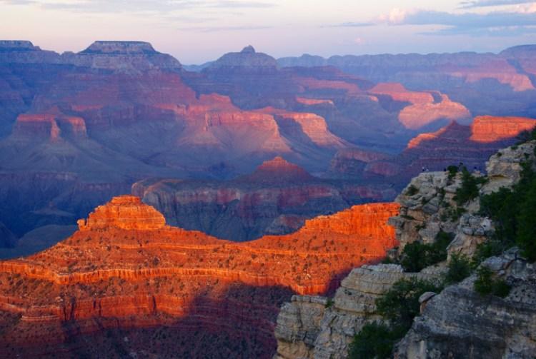 Solnedgang, Grand Canyon South Rim