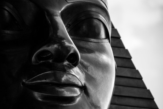 LONDON, UK - MAY 25, 2014: Close-up photo of the Sphinx near Cleopatra's Needle in London.