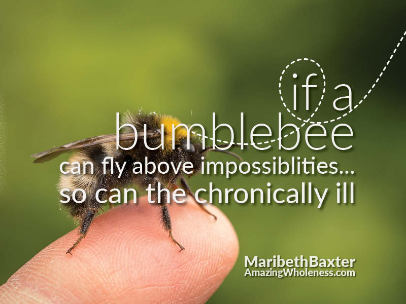 Flying Above the Impossibilities, for the Bumblebee and the Chronically Ill