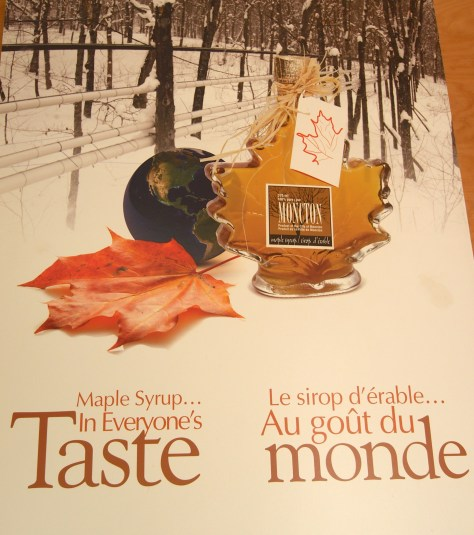 Poster promoting Moncton maple syrup