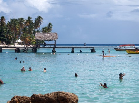 Stand-up Paddleboarding in Tobago.