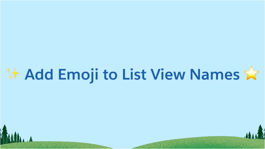 Emojis in List View Names