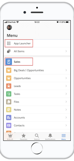 New Salesforce Mobile App