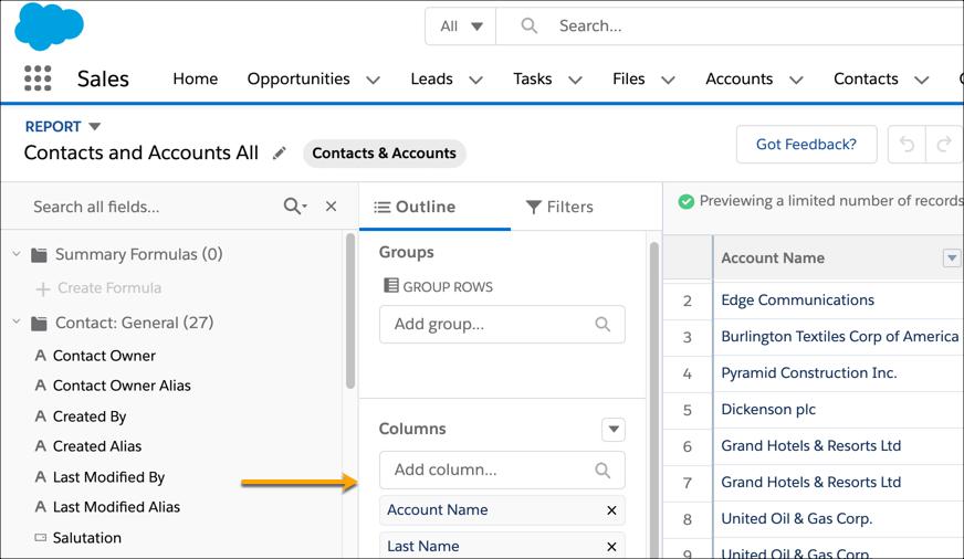 auto add new custom fields to custom report types