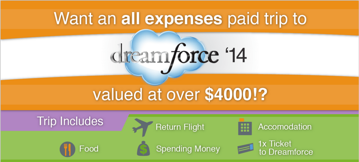 Win all expenses paid trip to Dreamforce 2014